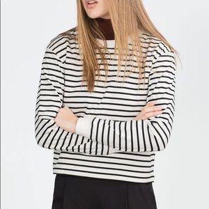 Zara striped sweatshirt